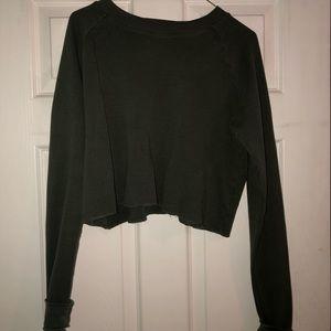 dark green brandy sweater
